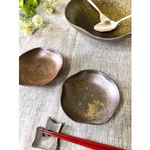 はすの葉(ミニ) / 津軽金山焼 金山焼 皿 陶器 日本製 手作り ギフト 記念品 プレゼント 贈り物 おしゃれ 器 焼締|kanayamayaki