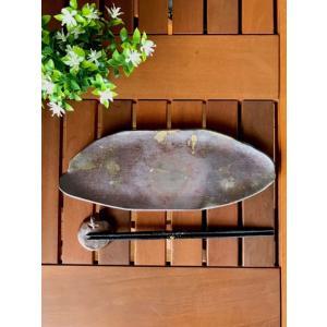 おはぎ皿(中) /津軽金山焼 金山焼 皿 陶器 日本製 手作り ギフト 記念品 プレゼント 贈り物 おしゃれ 器 焼締|kanayamayaki