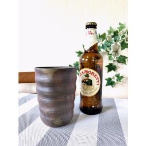 ろくろ目ビアカップ 大|kanayamayaki