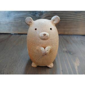 くまたん/津軽金山焼 金山焼 陶器 ギフト 記念品 プレゼント 贈り物 おしゃれ 置き物 置物 かわいい 熊 くま クマ インテリア  |kanayamayaki