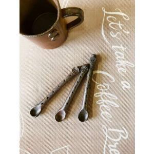 ボタンスプーン/津軽金山焼 金山焼 陶器 日本製 手作り ギフト プレゼント 贈り物 おしゃれ スプーン ボタン かわいい 食器  kanayamayaki