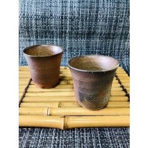 ぐいのみ(丸)/津軽金山焼 金山焼 陶器 日本製 手作り ギフト 記念品 プレゼント 贈り物 おしゃれ 酒器 食器 器 渋い ぐいのみ お祝|kanayamayaki