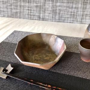 5角鉢/津軽金山焼 金山焼 陶器 手作り 日本製 食器 五角形 中鉢 ボウル 枝豆 煮物 おしゃれ 器 うつわ 焼き締め 5角形ボウル|kanayamayaki
