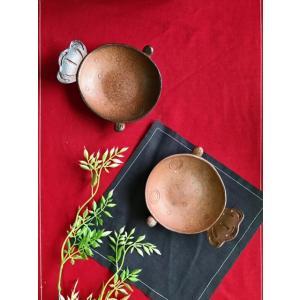金魚ねぶた小皿/津軽金山焼 金山焼 ねぷた ねぶた 金魚 小皿 陶器 かわいい 金魚ねぶた 器 手作り 日本製 祭り お土産 しょうゆ皿 お新香|kanayamayaki