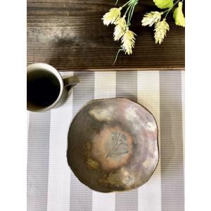 口変わり皿/津軽金山焼 金山焼 陶器 日本製 手作り プレゼント おしゃれ 皿 お皿 取り皿 食器 器 6寸|kanayamayaki