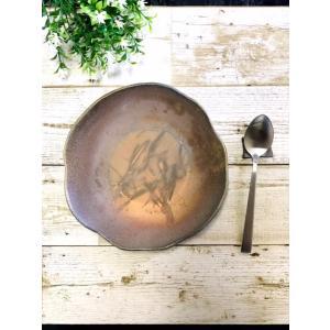 たたら七寸皿 / 津軽金山焼 金山焼 皿 陶器 日本製 手作り ギフト 記念品 プレゼント 贈り物 おしゃれ 器 焼締 お皿 プレート 和食器|kanayamayaki