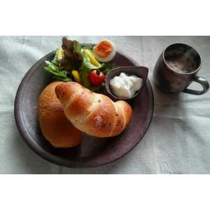 8寸皿 /津軽金山焼 金山焼 皿 陶器 日本製 手作り ギフト 記念品 プレゼント 贈り物 おしゃれ 器 焼締|kanayamayaki
