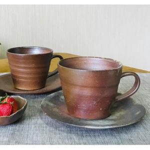 ラッパマグ/津軽金山焼 金山焼 陶器 日本製 手作り プレゼント 贈り物 おしゃれ 器 焼締 カップ マグ 食器 お祝い かわいい kanayamayaki
