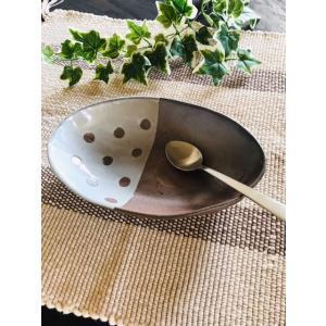 楕円カレー鉢 大 雪国 【SOLD OUT8月中旬お届け】|kanayamayaki