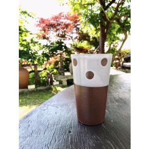 雪国ドット 焼酎カップ|kanayamayaki
