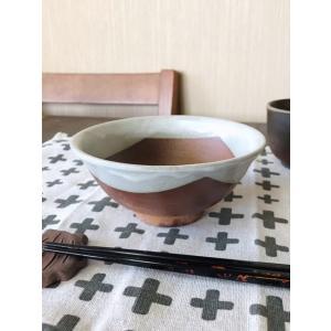 「雪国」飯茶碗(大)/津軽金山焼 金山焼 食器 器 うつわ ご飯茶碗 茶碗 大 おしゃれ 日本製 手作り 贈り物 プレゼント|kanayamayaki