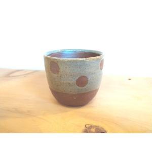 「林檎の森」まあるいそばちょこ(水玉)|kanayamayaki
