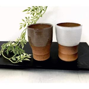 「林檎の森」一口ビア/津軽金山焼 金山焼 陶器 日本製 手作り プレゼント 贈り物 おしゃれ 器 焼締 コップ ビアカップ 小さい 食器 和食器|kanayamayaki