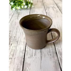 「林檎の森」ココアカップ/津軽金山焼 金山焼 陶器 日本製 手作り プレゼント 贈り物 おしゃれ 器 焼締 マグ マグカップ お祝 食器 可愛い |kanayamayaki