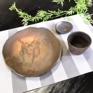 【今得】ざるそばセット 通常価格(税込)3,630円/津軽金山焼 金山焼 陶器 日本製 手作り プレゼント 贈り物 おしゃれ お祝 器 食器 そば|kanayamayaki