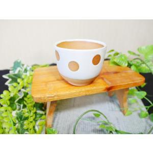 「雪国」くみだし(水玉)/津軽金山焼 金山焼 陶器 日本製 手作り ギフト プレゼント 贈り物 おしゃれ お祝 器 水玉 ゆのみ 食器 ドット|kanayamayaki