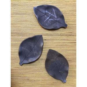 「須恵器」木の葉皿|kanayamayaki