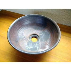 手洗い鉢 (焼き締め・丸)|kanayamayaki