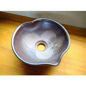 手洗い鉢(焼き締め・ハート型)|kanayamayaki