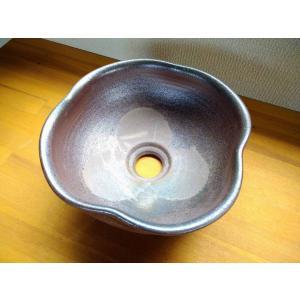 手洗い鉢(焼き締め・クローバー型)|kanayamayaki