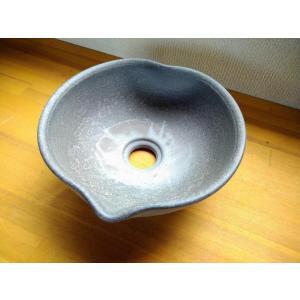 手洗い鉢(黒ひだすき・ハート型)|kanayamayaki