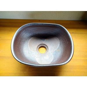 手洗い鉢(焼き締め・楕円形)|kanayamayaki
