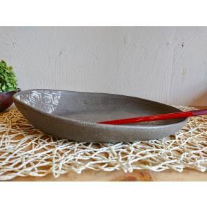 黒ひだすき こぎん楕円鉢|kanayamayaki