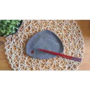 不思議皿(漆絵・りんご)|kanayamayaki