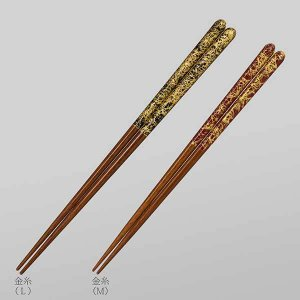 ≪箔一≫金の箸 銀の箸 金糸(L)|kanazawa-honpo