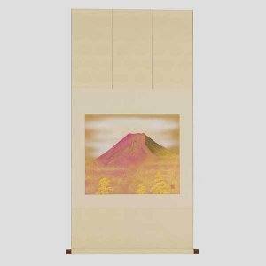 ≪箔一≫掛軸 赤富士(広幅)|kanazawa-honpo