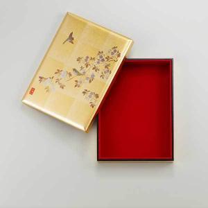≪箔一≫花見鳥 手許箱(B5)|kanazawa-honpo
