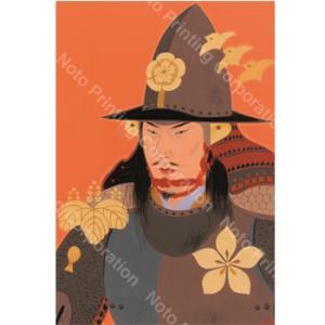 城下町金沢本舗 西のぼる武将コレクション「日の本の武士(もののふ)たち」(ポストカード8枚セット) kanazawa-honpo