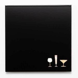 駒井漆器製作所 螺鈿コースター角(黒)|kanazawa-honpo