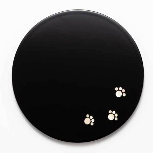 駒井漆器製作所 螺鈿コースター丸(黒)|kanazawa-honpo