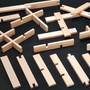 くみっこ倶楽部 【知育玩具】創造積み木くみっこ120本(6種各20本) kanazawa-honpo