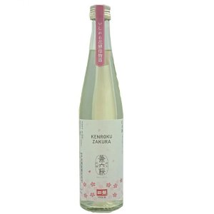 日榮 中村酒造 桜の花酵母で発酵した清酒兼六桜 500ml【季節限定】|kanazawa-honpo