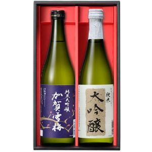 日榮 中村酒造 加賀雪梅純米大吟醸と端麗な純米大吟醸のセット 加賀大吟醸セット(2本入り 各720ml)|kanazawa-honpo