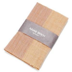 山崎麻織物工房(能登上布)サマーストール ツートン柄 Lサイズ|kanazawa-honpo