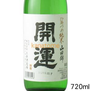 開運 かいうん ひやづめ純米 720ml|kanazawa-saketen