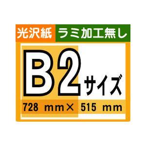 [ ポスター 印刷 ] B2サイズ 1枚 [ 光沢紙/ラミネート加工無し ]