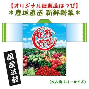 産地直送・野菜はっぴ(国産法被) 男女兼用 Fサイズ ポリエステル使用|kanbankobo