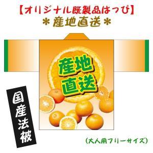 産地直送・みかんはっぴ(国産法被) 男女兼用 Fサイズ ポリエステル使用|kanbankobo