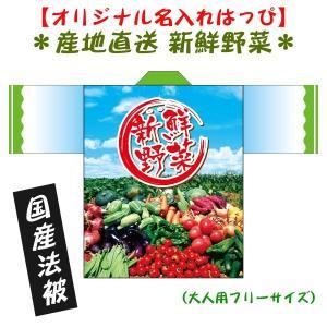 産地直送・野菜はっぴ●名入れ法被 男女兼用 Fサイズ ポリエステル使用|kanbankobo