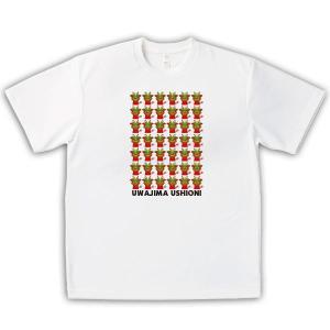 四国・宇和島 子供用Tシャツ オリジナルデザイン(うしおに) ホワイト×カラー|kanbankobo