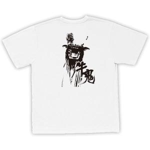 四国・宇和島 男女兼用Tシャツ オリジナルデザイン(牛鬼) ホワイト×ブラック|kanbankobo