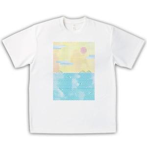 いりこ 男女兼用Tシャツ オリジナルデザイン 水彩の瀬戸内海|kanbankobo