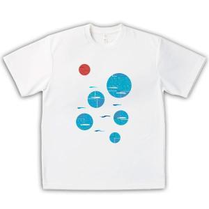 いりこ 男女兼用Tシャツ オリジナルデザイン 瀬戸内海、新鮮いりこ|kanbankobo