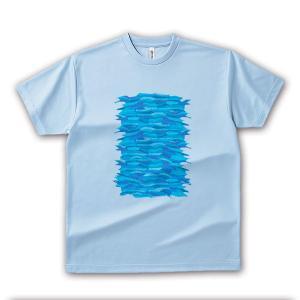 いりこ 男女兼用Tシャツ オリジナルデザイン いりこの群衆|kanbankobo
