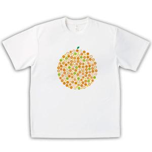 みかん 男女兼用Tシャツ オリジナルデザイン オレンジモノグラム|kanbankobo