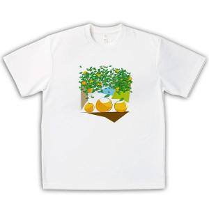 みかん 男女兼用Tシャツ オリジナルデザイン 夏の思い出|kanbankobo